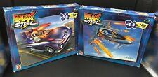 2 Max Steel 100 Piece Puzzles (MX48 Turbo Vehicle) & (MX25 Attack Jet) Mattel