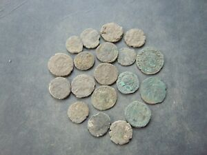 19 pieces to be cleaned Roman Follis LOT!