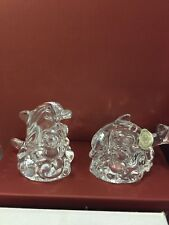 """Lenox Collectible Salt And Pepper Shakers """"Crystal Dolphin"""" Nib (B)"""