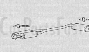 Exhaust Middle Silencers Alfa Romeo 164 3.0 Petrol Saloon 10/1988 to 05/1993