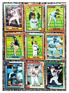 1990 Topps Ryan Ripken Griffey Thomas Canseco  Baseball Cards 18 Best in Set