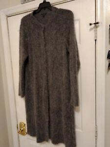 Eileen Fisher Mohair Alpaca Sweater Coat