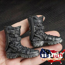"1/6 Avengers Soldier Assault Combat Boots For 12"" Phicen HotToys Male Figure USA"