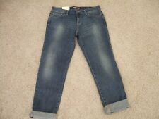 NEW Women's Tommy Hilfiger Blue Denim Jeans Boyfriend Relaxed Tapered Leg Size 4