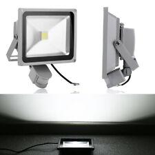 50W LED Fluter Flutlicht Strahler Scheinwerfer Grau Bewegungsmelder Kaltweiß