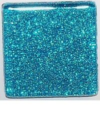 Glitter Glass Mosaic Tiles - Ocean Blue - 3/8 inch - 50 Tiles - Craft & Art