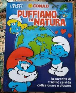 PUFFIAMO LA NATURA CONAD I PUFFI 2012 album completo / vuoto o solo figurine