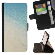 BEACH SAND SUMMER VACATION WALLET CASE COVER FOR SAMSUNG GALAXY S7 EDGE