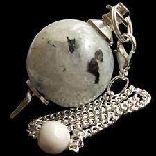 Rainbow Moonstone Dowsing Pendulum Ball Sphere Crystal Strengthens Intuition