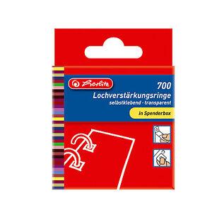 Lochverstärker 11mm transparent-selbstklebend 700 Stk. von Herlitz