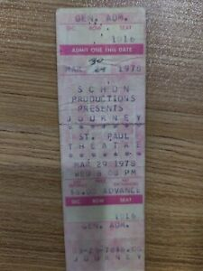 CHECK IT OUT! Journey 1978 Ticket Stub! #4/166