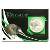 Neuseeland Kiwi- 2006- Silber $1 Im Blister Munzen - 1 OZ Kiwi !!!