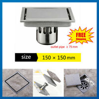 Stainless Steel Floor Drain Bathroom Kitchen Wet Room Shower Waste Trap Plumbing