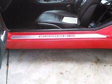 CUSTOM Porsche 924, 944, 968 Brush Stainless Door Sill Paint guard STICKER set.