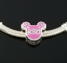 New! Authentic Pandora Disney Parks 2020 Mickey Icon Pink Enamel Charm