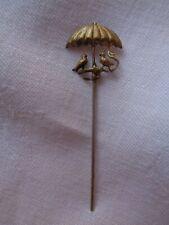 Epingle à chapeau ancienne laiton doré