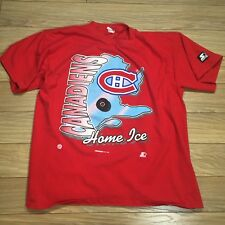 Montreal Canadiens Home Ice T Shirt L Vintage NHL 1994 Starter Hockey Red  Logo 59e8dac7f