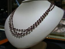 NATURAL RUBY ROUND BEADS NECKLACE WITH GOLD PLATED STERLING SILVER CHAIN 15 TCW