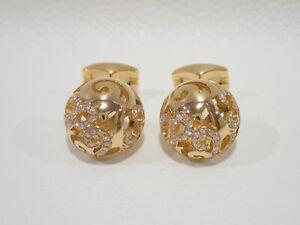 FRANCK MULLER 18k rose gold cufflinks with diamonds