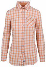 L' ARGENTINA Damen Bluse Women Shirt Größe 38 M 100% Baumwolle Orange Kariert