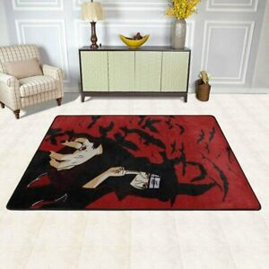 NARUTO0 Uchiha Itachi Rugs Anti-Skid Area Rug Living Room Soft Floor Mat Carpet