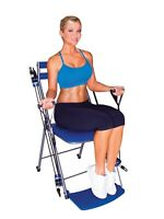 Chair Gym - The Total Body Workout, All in One Home Exercise System – BLUE! NEW