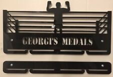 Personalised5mm BOXING Medal Hanger / Holder WITH 2 EXTRA RAILS (90cm In Total)