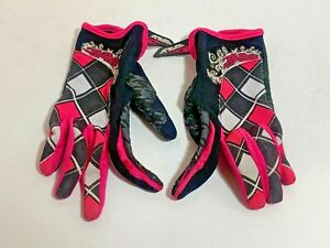 Fly Racing Pink / Black Motocross MotoX Gloves Adult Size Small S (6)