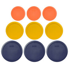 Pyrex 7200-PC Orange, 7201-PC Yellow, 7402-PC Blue Replacement Lids