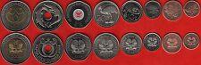 Papua New Guinea set of 8 coins: 1 toea - 2 kina 2004-2008 UNC