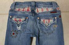 Womens MISS ME denim jeans studded boot cut SZ 25 (x 32.5 inseam)