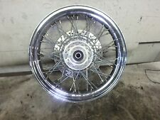 "2001 Honda Shadow VT 750 VT750 Front Wheel Spoke Wheels 17"" Bent"