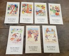Lot of 7 Vintage 1967-68 Tell City Chair Co. Calendar Calendars Indiana IN