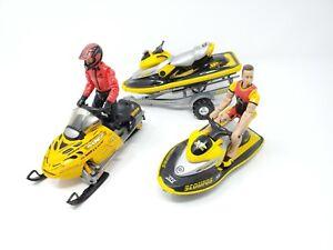 RARE 2000 Road Champs New Bright Ski Doo Snowmobile & Sea Doo Lot with Figures
