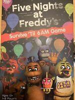 NEW Five Nights at Freddy's Board Game SURVIVE 'TIL 6 AM FNAF Game Funko