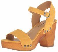 Lucky Brand Women's Trisa Cedar Platform Heeled Open Toe Sandal