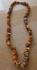 Antique Natural butterscotch  Baltic Amber Beads Necklace  # 9s