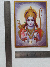 5x7 Inch Poster Lord shree Ram, Golden Foil Effect Paper