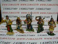 Lot 5 INDIENS HOBBY & WORK: Sitting Bull,Geronimo JB2A,Joseph,Pocahontas,Morning
