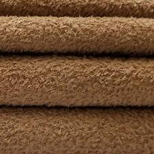 1/4 yd Vis1/Scm Tuscan Chestnut Intercal 6mm Med. Dense Curly Matted Viscose Fur