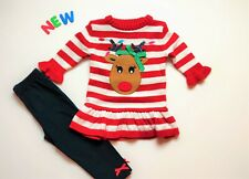 Toddler Kids Baby Girls Clothes Size 12M - 2T NWT GoodLad Christmas Leggings