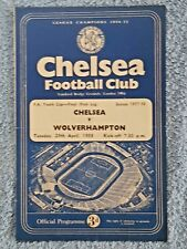 1958 - FA YOUTH CUP FINAL 1ST LEG PROGRAMME - CHELSEA v WOLVES