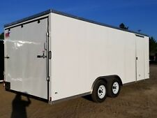 8.5x20 Enclosed Cargo Trailer V NOSE 22 Utility Car Hauler 8 Motorcycle Box 2018