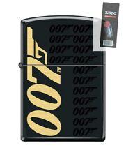 Zippo 5791 007 James Bond Black Matte Finish Full Size Lighter + FLINT PACK