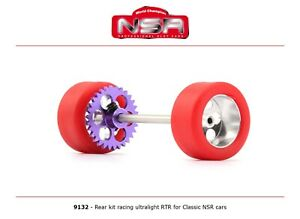 NSR 9132 Rear Axle Kit Ultralight RTR for Classic NSR Cars