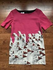 $495 MOSCHINO Cheap And Chic Goose Print Dress Size US 8