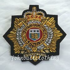Royal Logistic Corp Wire Embroidered Bullion Blazer Badge - British Army