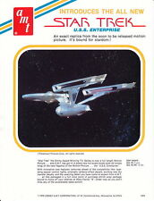 "AMT / Lesney ""Star Trek U.S.S. Enterprise"" dealer promo sheet 1979"
