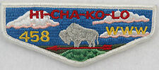 OA Lodge 458 Hi-Cha-Ko-Lo S2 Flap DYL WWW 458; F R/E, round bottom [D1654]