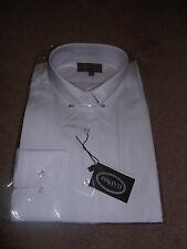 """Camisa para hombre cuello blanco pin botón en puños sin tamaño 18"""". tamaños más grandes disponibles"""